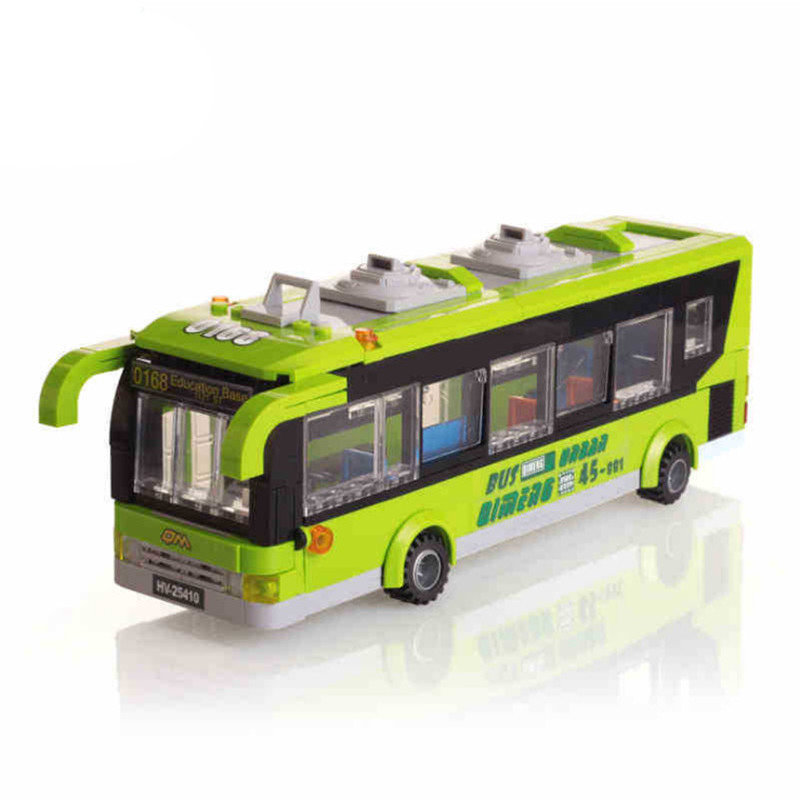 ФОТО enlighten city bus station building block sets kids educational bricks toys minifigure toys compatible with toys city series