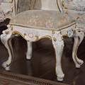 romantic furniture gift  furniture  - solid wood hand carving cracking paint dressing stool