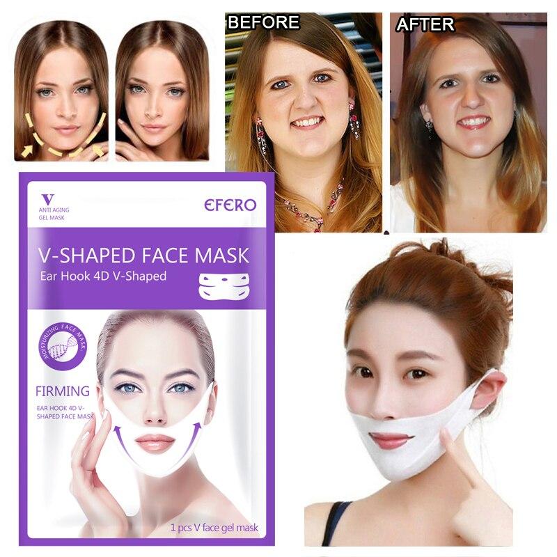 EFERO Moisturizing Facial Mask Lifting Visage Chin Neck Face V Shape Lifting Mask Peel-off Mask To Slim Firm Face Skincare TSLM1