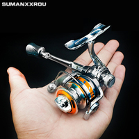 Mini Pocket Spinning Fishing Reel Alloy Fishing Tackle Small Spinning Reel 4.3:1 Metal wheel pesca gift