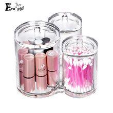 Transparente acryl wattestäbchen box kosmetik pinsel 3 in 1 aufbewahrungsbox kosmetikbox Schmuck organizer Makeup kosmetik vorratsglas