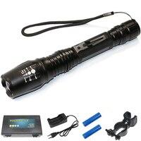 5000 Lumen High Power 2x18650 LED Flashlight XML T6 Bulb Zoomable Torch Light Focus Long Range