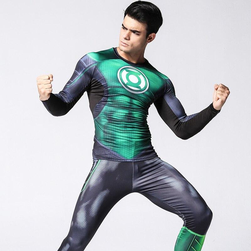 Hip Hop vêtements pour grands hommes mode Compression survêtements chemise complète + Leggings avec Leggings grande taille 3d imprimé hommes costumes