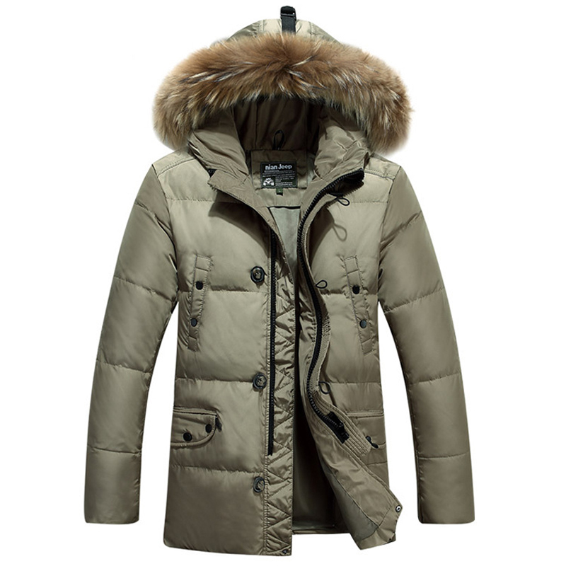 2016 New font b Men s b font Down Jacket Long Down Jacket Thick Warmth High