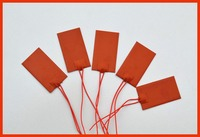 30x 60mm 6W 12V Silicone Heater Mat Heating Element Heating Plate 3M High Temperature Resistant Adhesive