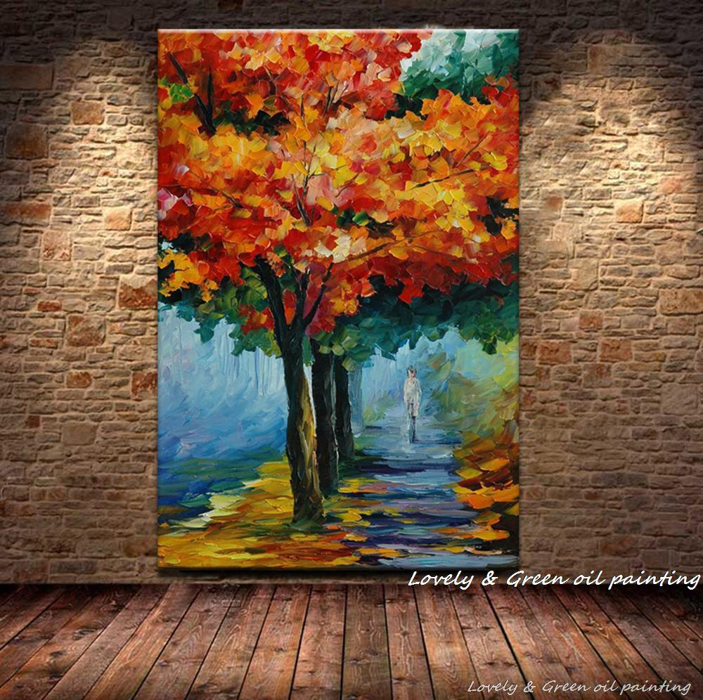Online buy wholesale tree scenery pictures from china tree for Beautiful canvas painting