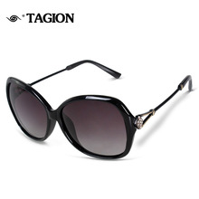 TAGION Fashion Polarized Sunglasses Women Sunglass UV400 Protection Glasses With Rhinestone Elegant Ladies Sun Glasses 2556