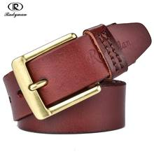 Best Price RADYMAN Vintage Style Full Grain Leather Pin Buckle Cow Genuine Leather Belts For Men Luxury Male Straps Jeans Designer Belt Men