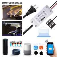 Controlador de apertura de puerta de garaje inteligente con interruptor WiFi Wofea con Alexa Google Home Smart Life/control de aplicación Tuya