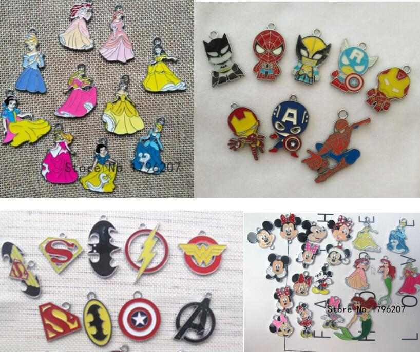 Pendants Jewelry-Making-Accessories Bracelet/earrings Cartoon Charm 1650pcs DIY Mixed