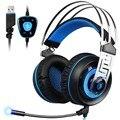 Nueva Original A7 USB Auriculares Estéreo 7.1 Surround Sound Gaming Headset Auriculares con Micrófono Led para PC Gamer Portátil LOL