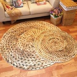 Grande tapete redondo 60/80/100/120cm tapete japonês moderno minimalista sala de estar quarto mesa café redonda giratória cadeira tapete