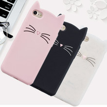 Hot sales! 3D Cute Cat Phone Silicone soft Case Cover For Samsung Galaxy Note 2 N7100 Note2 N 7100 Cases Gel Shell(China)
