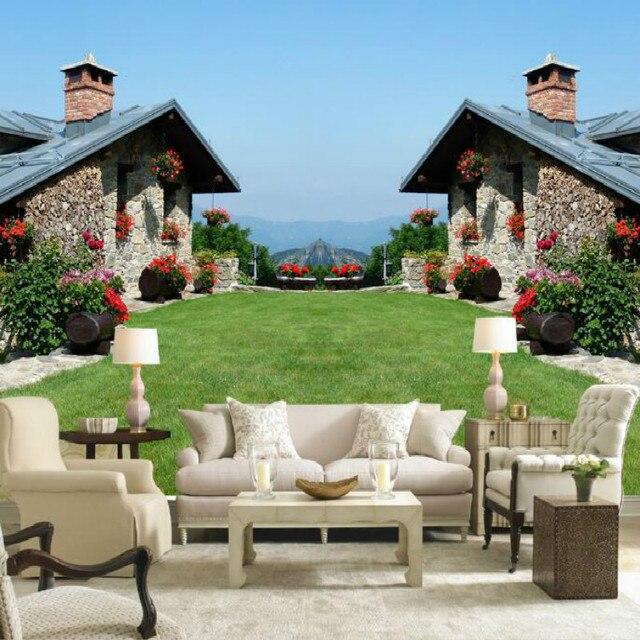 Europese stijl landelijk villa behuizing building decoratie grote ...