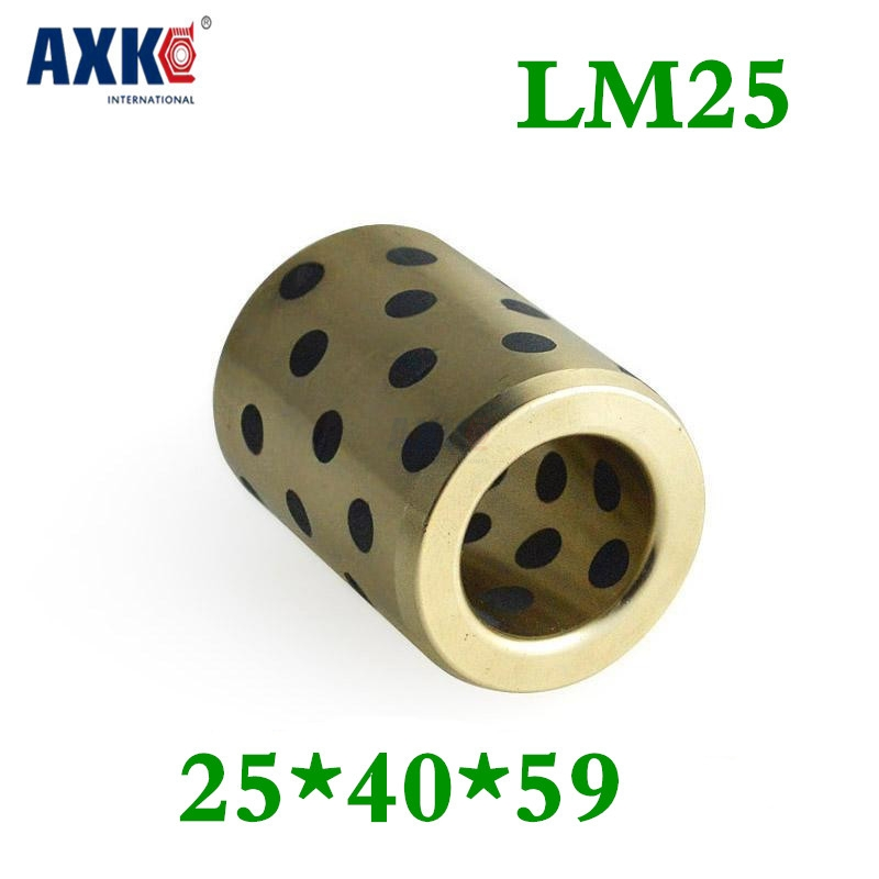 4pcs 25x40x59 Mm Linear Graphite Copper Set Bearing Copper Bushing Oil Self-lubricating Bearing Jdb Free Shipping Lm25uu Lm25 jdb 406080 copper sleeve the same size of lm12 linear solid inlay graphite self lubricating bearing