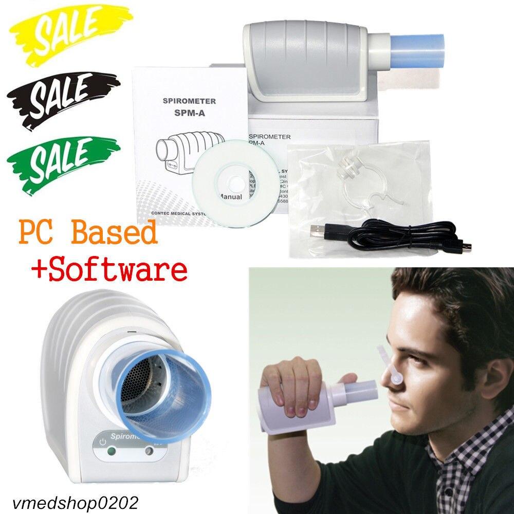Condizione di Controllo digitale Spirometro Polmone, VC Funzione Polmonare, Software per PC, SPM-A CONTEC