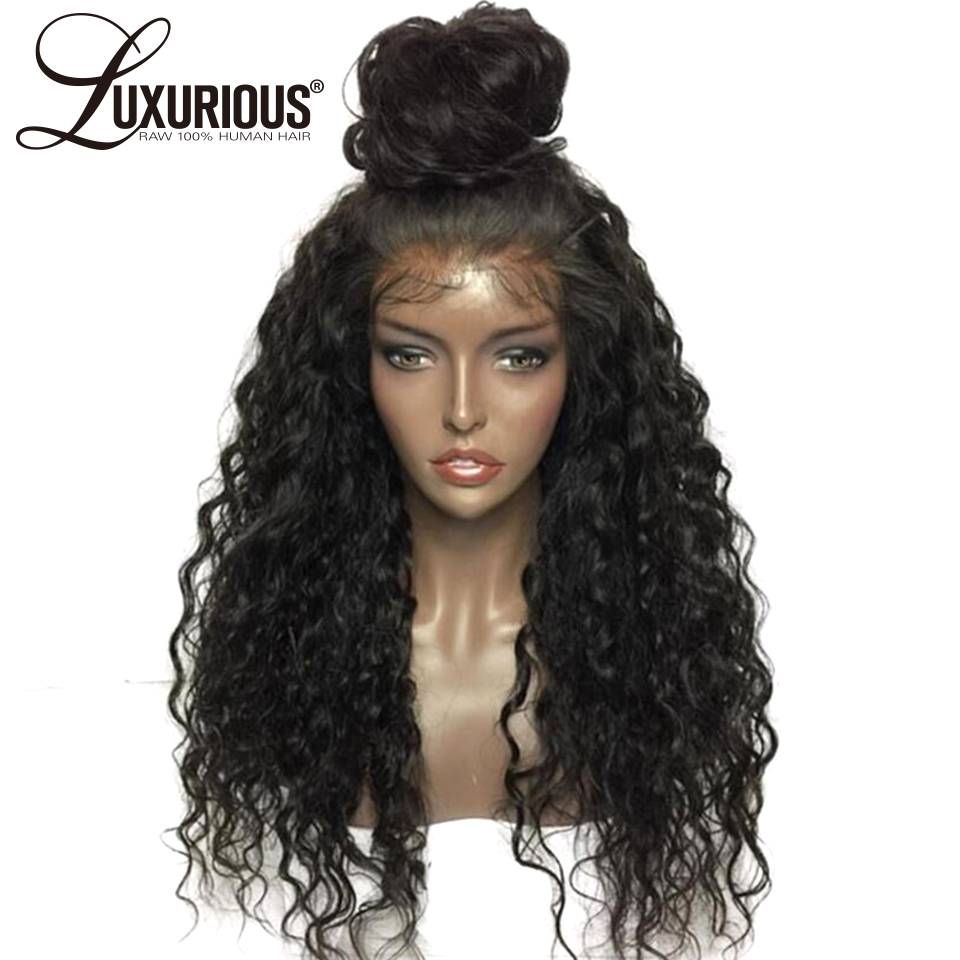 Luxurious Curly Full Lace Human Hair Wigs For Women Pre Plucked Natural Hairline With Baby Hair