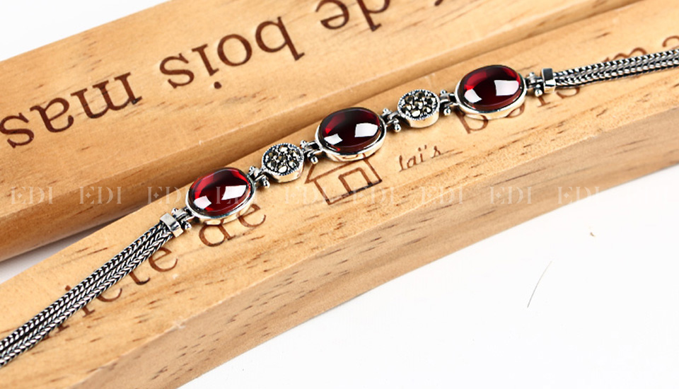 Red Gemstone Bracelet - lifestyle shot 1