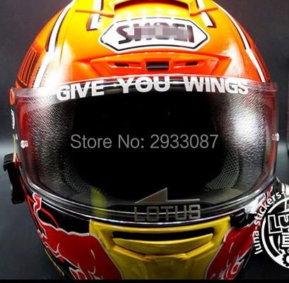 Aliexpresscom  Buy Car Styling MOTO GP GIVE YOU WINGS Motorcycle - Motorcycle helmet visor decals