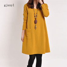 d18edfe9167 gjsxyl autumn winter maternity dress in long section style. US  15.51    piece Free Shipping