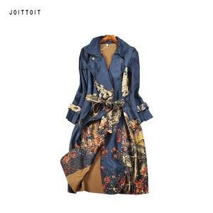 47f330e69c308 JOITTOIT Autumn Winter Women Plus Size Loose Long Slim Coat