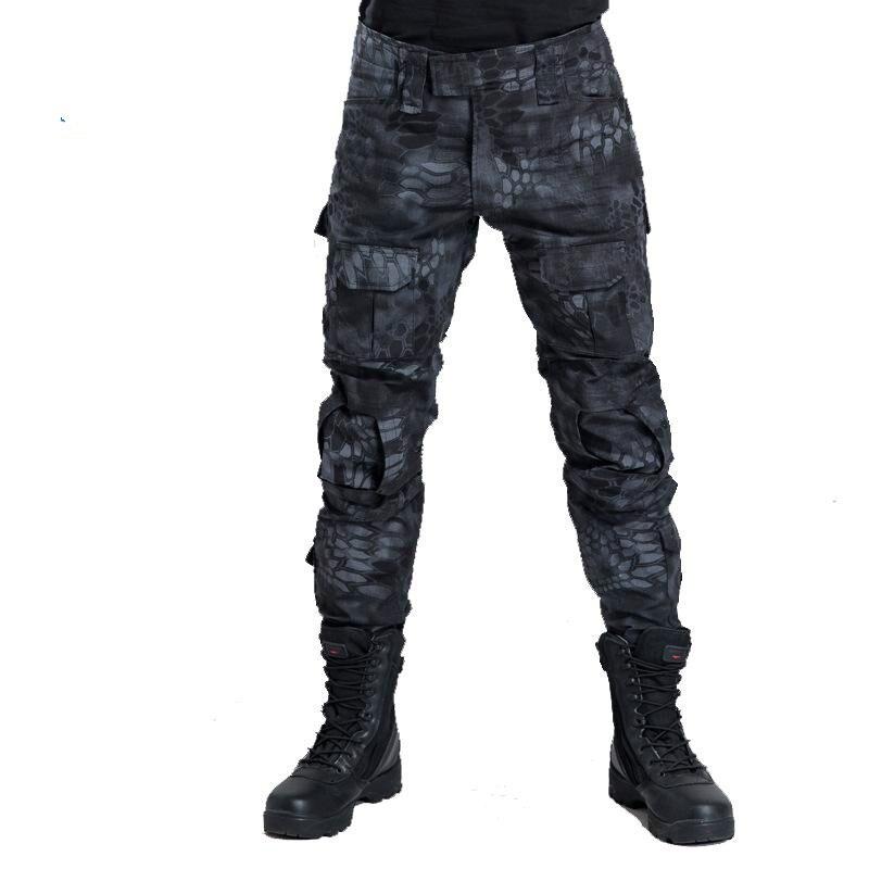 Multicam militaire Camouflage pantalon aveugle chasse vêtements tactique Cargo pantalon sans genouillères armée Combat pantalon Fatigues