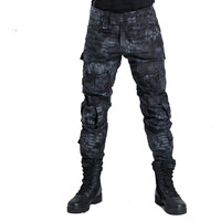 Multicam Military Camouflage Pants Blind Hunting Clothing Tactical Cargo Pants Without Knee Pads Army Combat Pants Fatigues