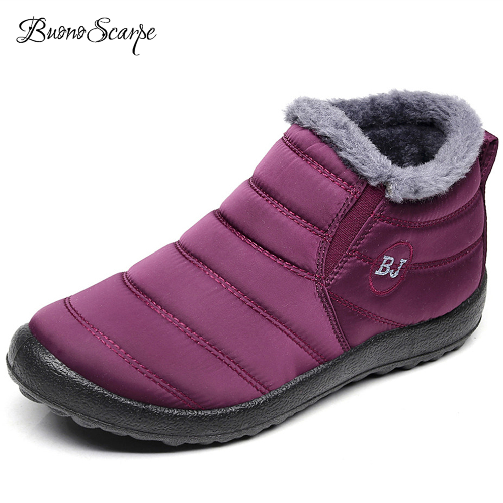 Detail Feedback Questions about BuonoScarpe Winter Women Warm Plush In Snow  Boots Waterproof Cloth Non slip High Top Shoes Big Size 35~46EU Casual  Cotton ... d4609184b285