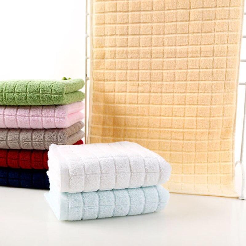 6 colori cotone asciugamano viso 3476 centimetri morbido telo da bagno panno di lavaggio