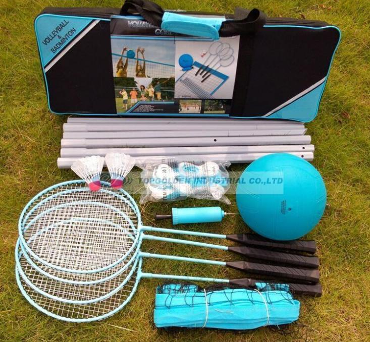 Multi-function badminton and volleyball game set outdoor recreational sports  game set  volleyball set badmiton set