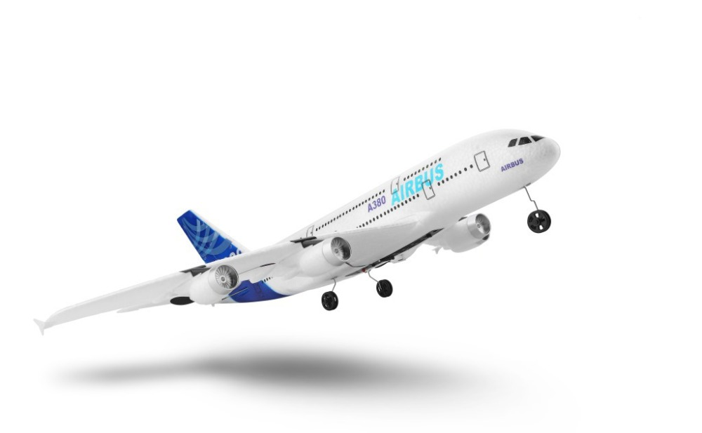 RC Airplane Toys Aircraft-Model Radio-Control Professional Airbus 3CH A380 48cm Fixed-Wing
