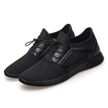 7793ade41d Homens Homem Sapatos Sneakers Moda Masculina Sapatos Casuais Sapatos de Malha  Respirável Leve Sapatos Masculinos Adulto Krasovki Zapatos Tenis Feminino