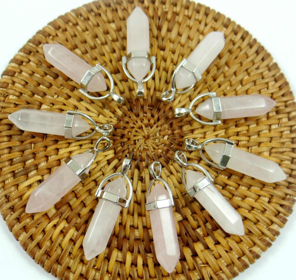 Natürliche stein Türkisen Verkrustete lapis tiger eye Opal kristall Quarz charm Anhänger für diy Schmuck machen halsketten Accessories24pcs