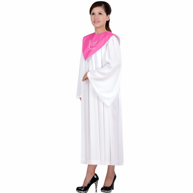 High Quality Christian Church Dress Wear Jesus Class Service Wear Wedding Hymn Holy Garment Nun Costume Christian Sing Robe Gown