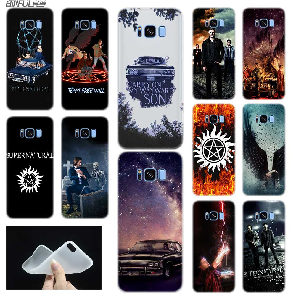 Fall Für <font><b>Samsung</b></font> S5 S6 <font><b>S7</b></font> Rand Plus S8 S9 S10 E Plus Fall Abdeckung Weichen Silikon 3D TPU Hinweis 8 9 10 Pro Supernatural Jensen Ackles image