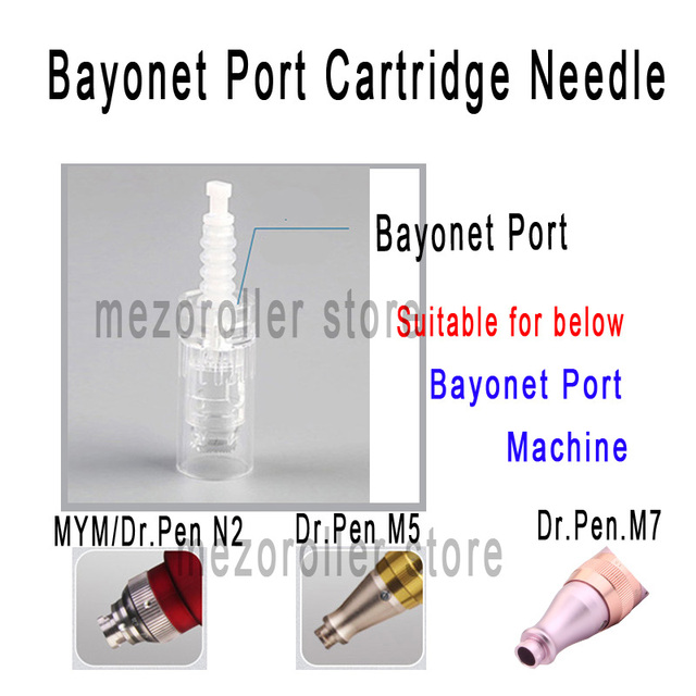 100pcs/lot Mezoroller Bayonet Cartridge Replacement For Derma Pen Micro needle 9 pin / 12 pin / 36 pin / nano Micro Nano Needle 1