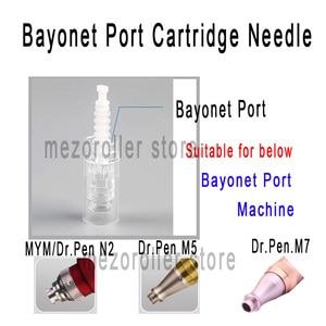 Image 3 - Repuesto de cartucho de bayoneta Mezoroller para microagujas, 9 pines/12 pines/36 pines/nano Micro Nano needle, 100 unids/lote