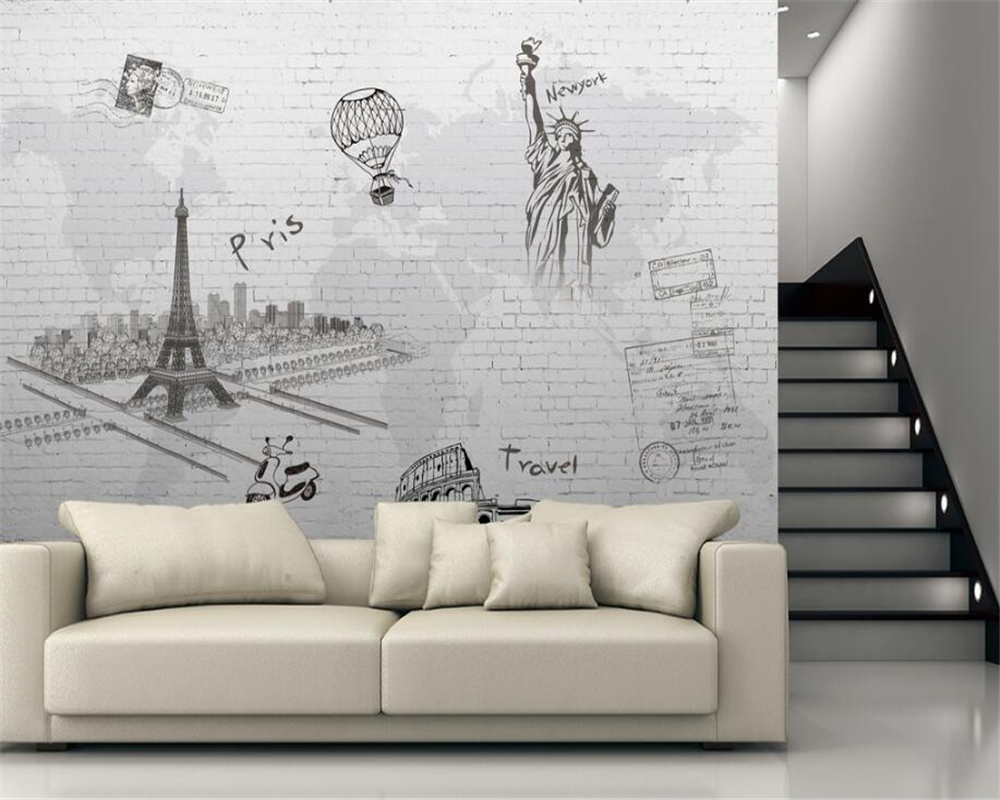 Online Get Cheap Paris Menara Kamar Tidur Wallpaper Aliexpress