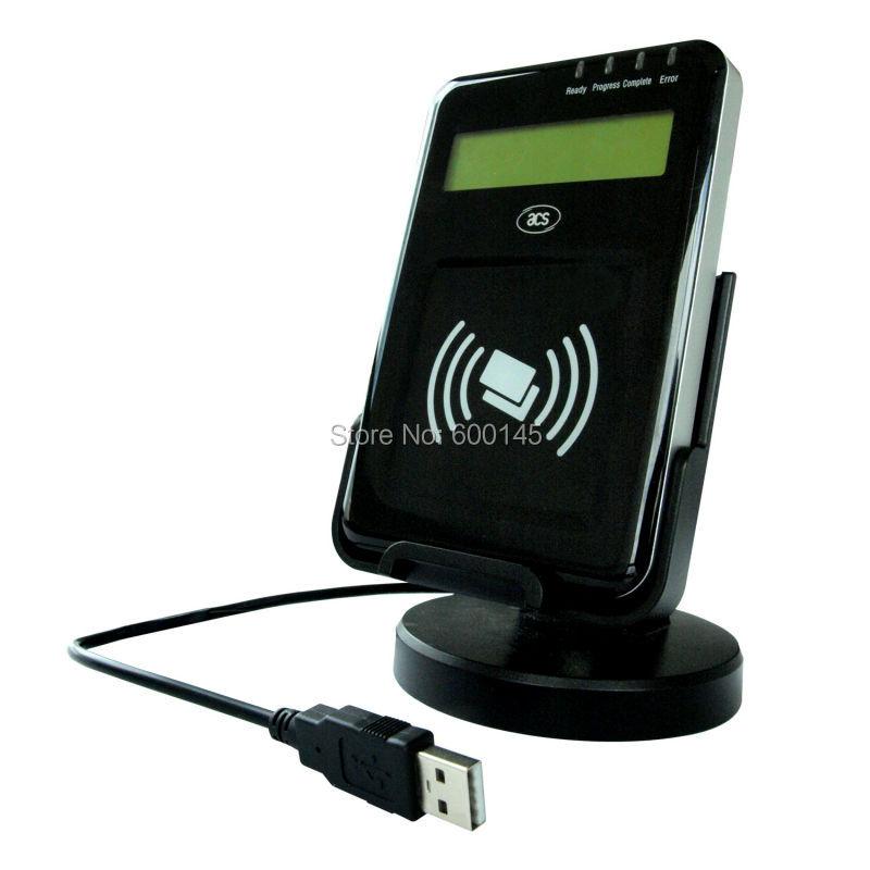 13.56 MHZ LCD USB PC - liée NFC sans contact lecteur Writer soutien ISO14443 ab carte avec sdk gratuit kit pour E - banque / Pay - ACR1222L - 6