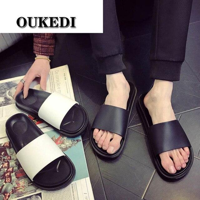 Chinelos 2019 homens Casais Homens Escorregas Home Indoor Chinelos de Banho de Verão Sapatos de Praia Ao Ar Livre Chinelos Casuais Plana Sapatos