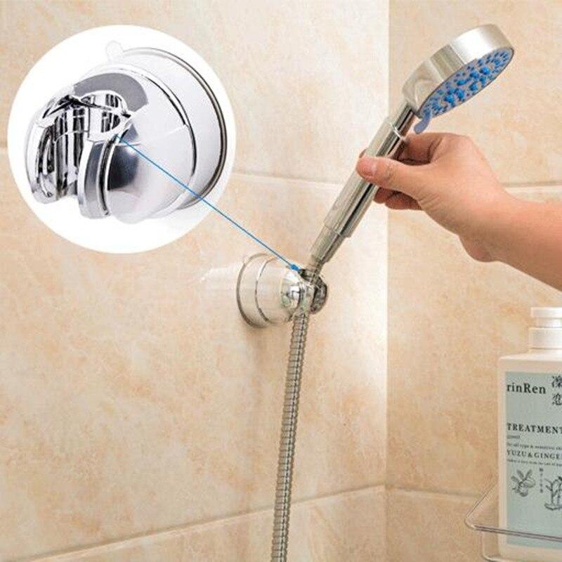Plastic Adjustable Stand Bracket Holder Mount Suction Cup Shower Holder For Bathroom Shelf Handheld Shower Holder Fixed Seat