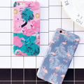 Cute Cartoon Animal Flamingo Ostrich Case For iphone 6 6S Phone Cases Luxury IMD Back Cover For Apple iphone 6S Plus 6Plus Capa