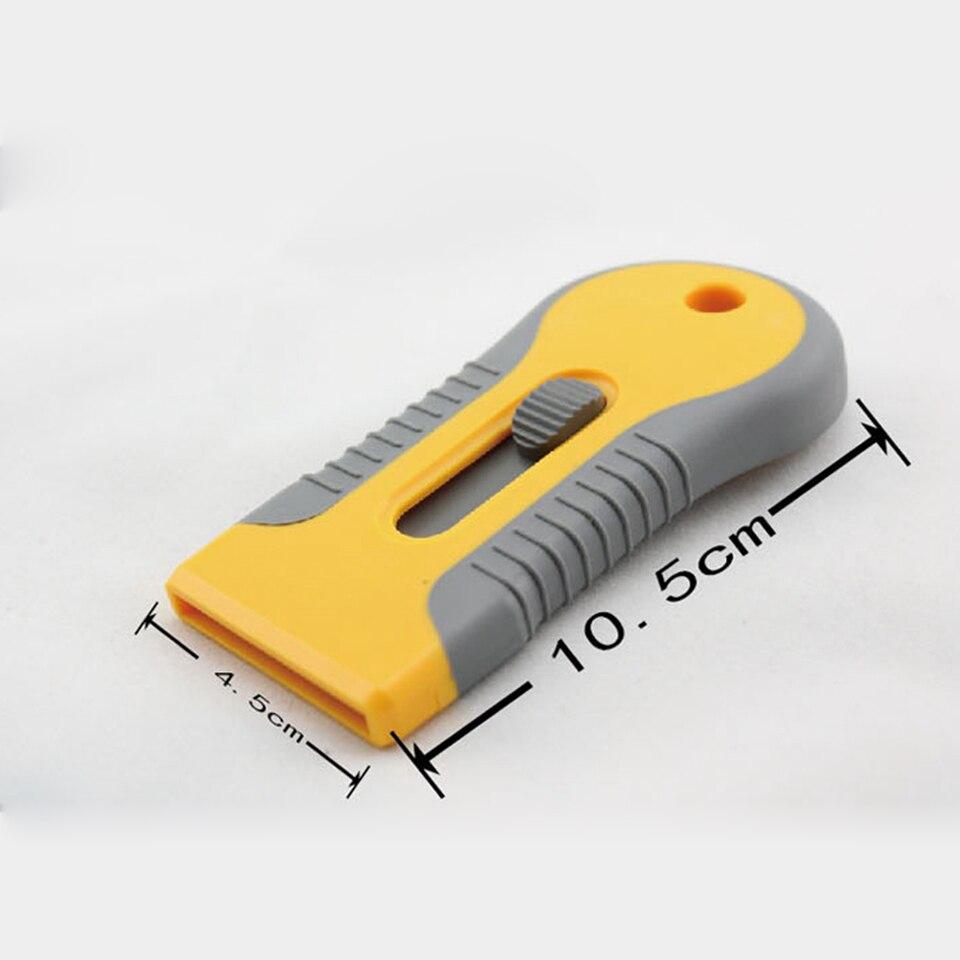 Бесплатная доставка виниловый инструмент Желтый Мини бритва лопатка скребок с бритвенным лезвием для удаления Gule MO 89 оптовая продажа-in Наклейки на автомобиль from Автомобили и мотоциклы