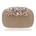 Free Shipping New Both Side Diamond Flower Leaf Crystal Evening Bag Clutch Bags Upscale Styling Day Clutches Wedding Purse