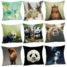 Panda Cushion Cover Home Decor Cushion Case Houseware Throw Pillowcase Linen Square 45x45cm Cushion Cojines