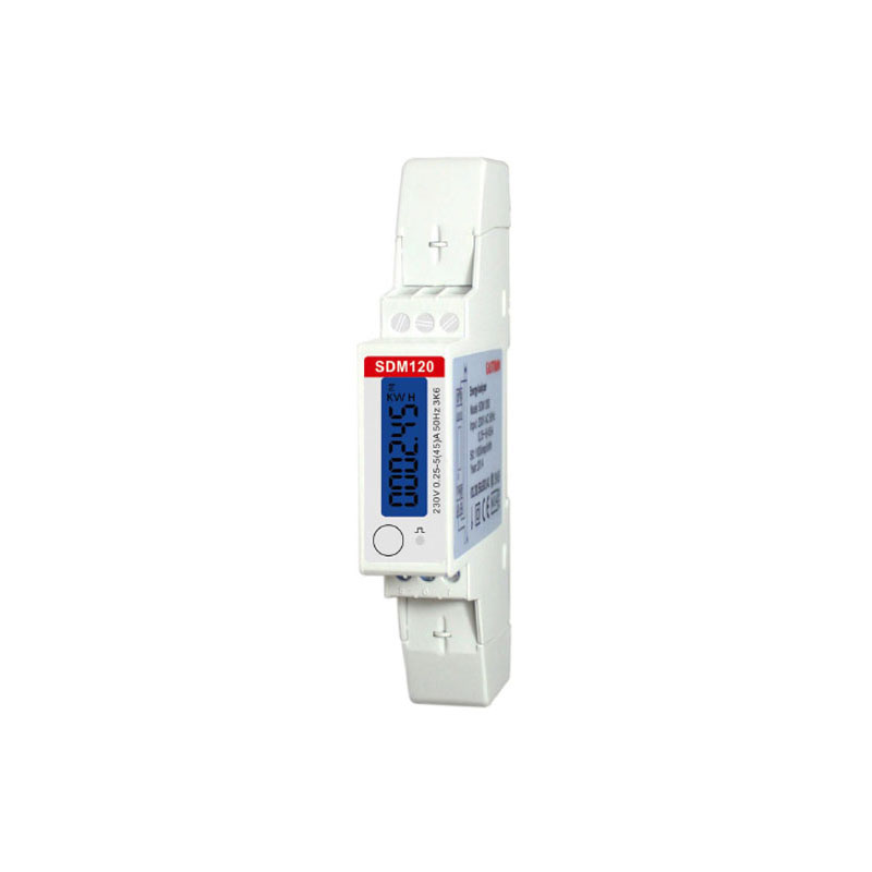 Single Phase 230V Din Rail Meter , Electricity Kwh Meter, Multi-function Energy Meter with RS485 Modbus output SDM120 MODBUS