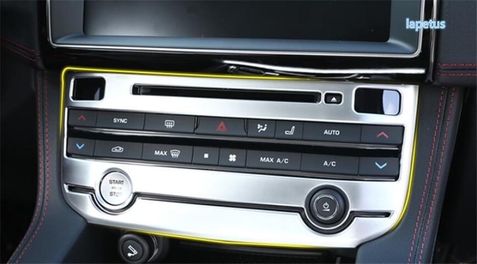 Lapetus Center contrôle climatisation bouton interrupteur panneau décoration cadre couvercle garniture pour Jaguar f-pace 2017 2018 2019 ABS