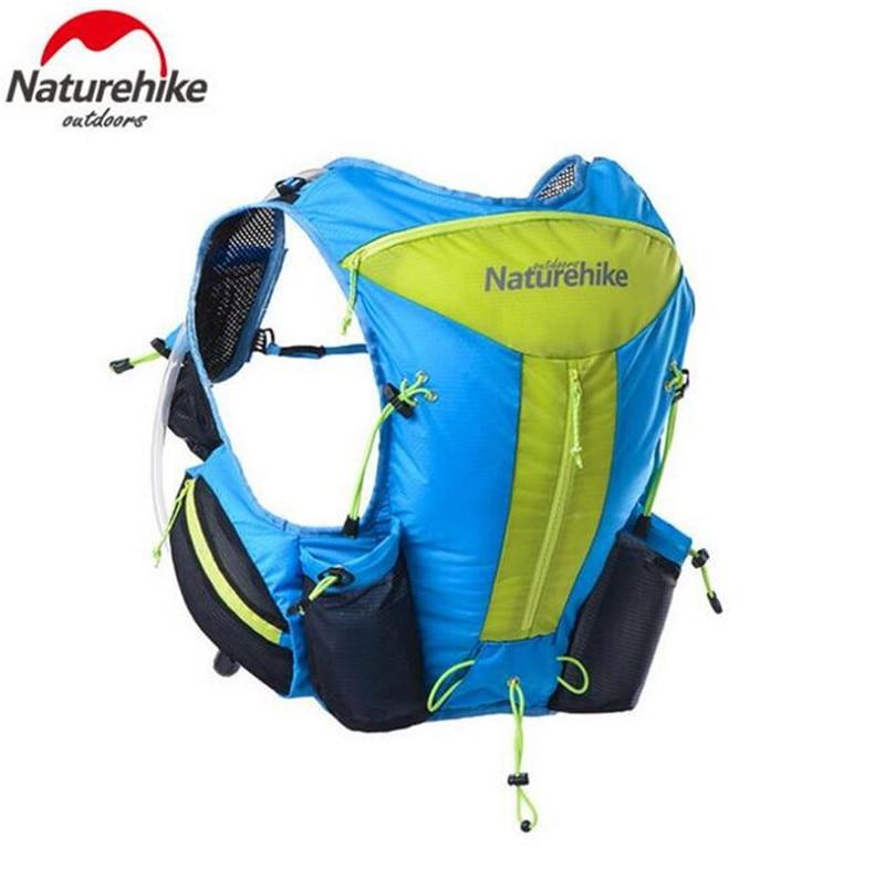 ФОТО Naturehike Men Women 12L Outdoor Hiking Trekking Backpacks Lighweight Marathon Backpack Close Fitting Tactical Packs Running Bag