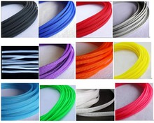 3MM 4MM 6MM 8MM 10MM 12MM 16MM Flat PET Sleeves Braided Expandable Cable Wire nylon Snakeskin Sleeving grey pink purple orange uxcell 12 meters length 10mm width nylon braided expandable sleeving cable harness wire cable protection