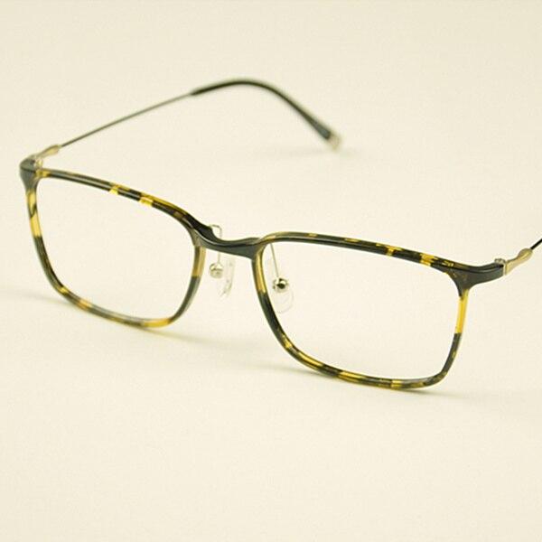 Fashion Square Brillengestell Männer Kunststoff Titan Brillen - Bekleidungszubehör - Foto 5